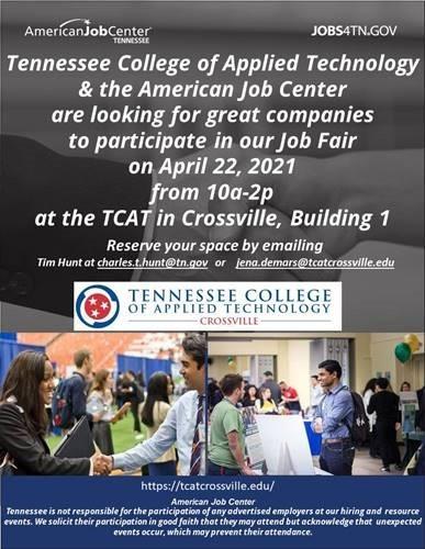 Job Fair April 22, 2021