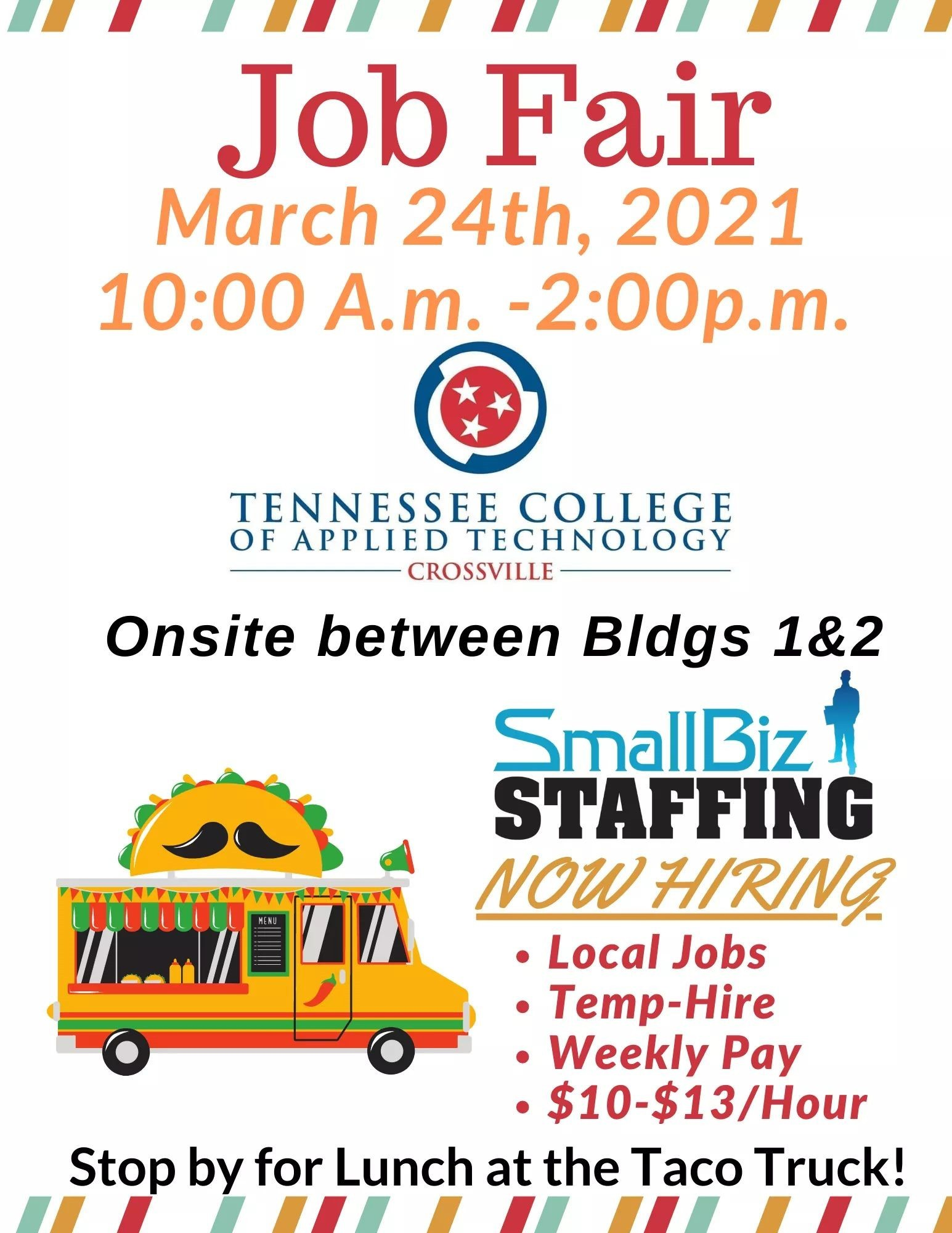 Job Fair March 24th TCAT Crossville
