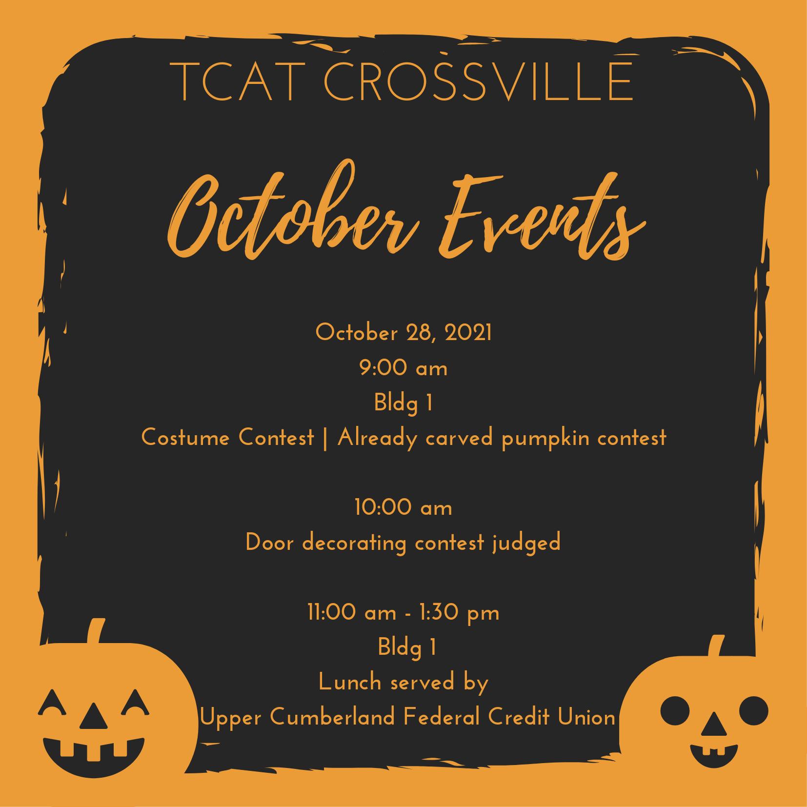 TCAT Crossville October Events